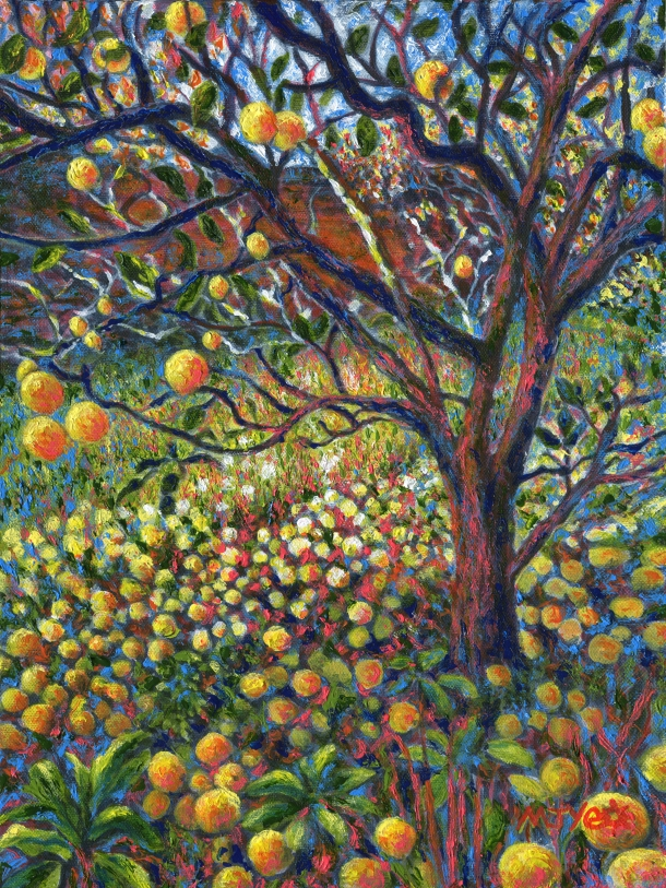 apple tree contemporary painting for sale